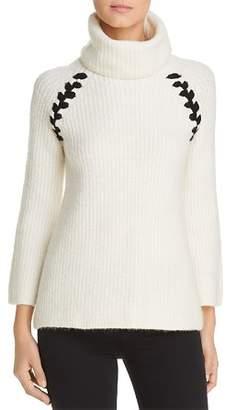 Heather B Turtleneck Whipstitch Sweater