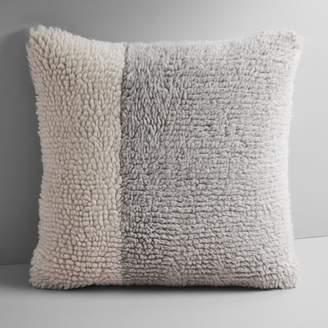 west elm Colorblock Shag Pillow Cover