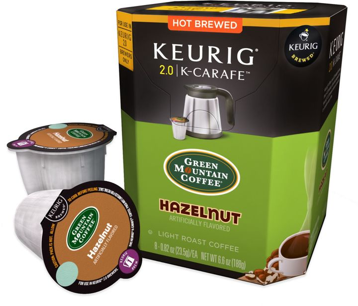 Keurig® K-CarafeTM Pack 8-Count Green Mountain Coffee® Hazelnut Light Roast Coffee