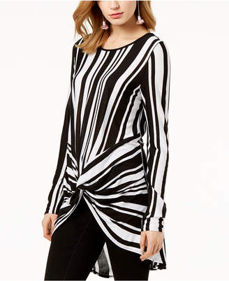 INC International Concepts I.n.c. Striped Twist-Front Tunic, Created for Macy's