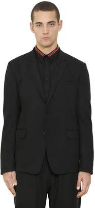 Givenchy Stretch Wool Canvas Jacket