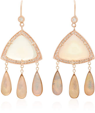 Jacquie Aiche One-Of-A-Kind Triangle White Opal Earrings