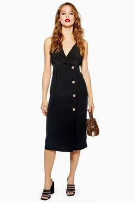 Topshop Button Midi Dress