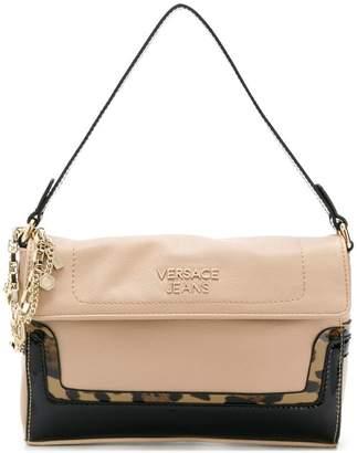 Versace leopard print shoulder bag
