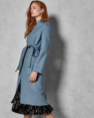 Ted Baker ISMAAY Reversible cashmere blend wrap coat