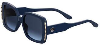 Elie Saab Square Acetate Sunglasses