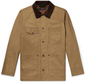 Rag & Bone Colour-Block Suede-Trimmed Waxed-Cotton Chore Jacket - Tan