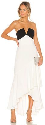 Jill Stuart Strapless Ruffle Gown