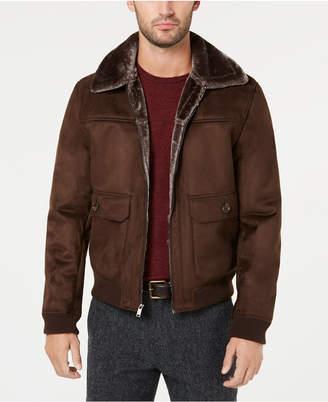 Tasso Elba Men Faux-Shearling Flight Jacket