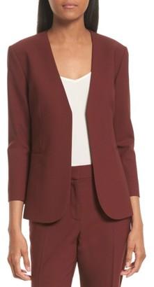 Women's Theory Lindrayia B Betoken Wool Blend Blazer $435 thestylecure.com