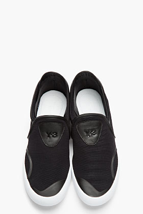 Y-3 Black & White Lightweight Mesh Slip-On Shoes