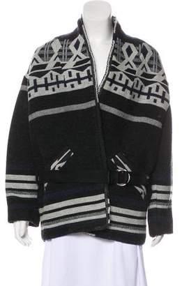 IRO Geometric Print Wool-Blend Coat