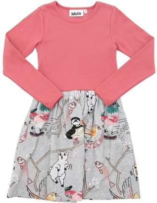 Molo Printed Cotton Jersey Dress