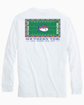 Southern Tide Gameday Football Stadium Long Sleeve T-shirt - University of Florida
