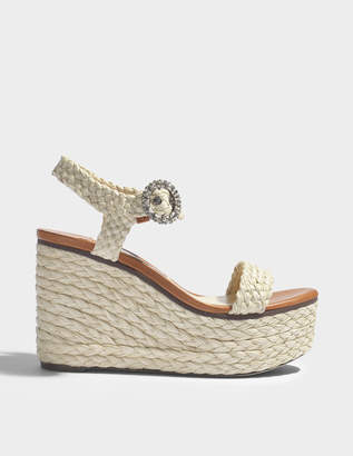 Jimmy Choo Nylah raffia wedges