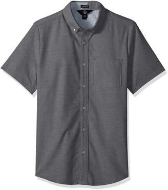 Volcom Men's Everett Oxford Modern Fit Short Sleeve Shirt, Extra Large