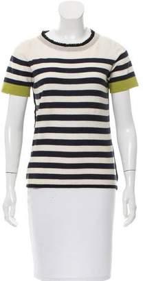 Yigal Azrouel Ruffled Striped Sweater
