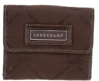 Longchamp Leather-Trimmed Logo Wallet