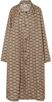 Vetements Printed Coated-shell Raincoat - Beige