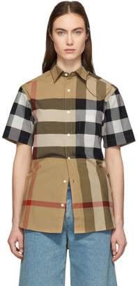 Burberry Tan IP Check Windsor Shirt