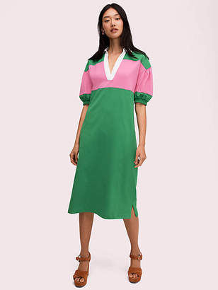 Kate Spade Stripe Polo Knit Dress, Desert Palm - Size M