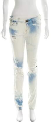 Current/Elliott Acid Wash Low-Rise Jeans
