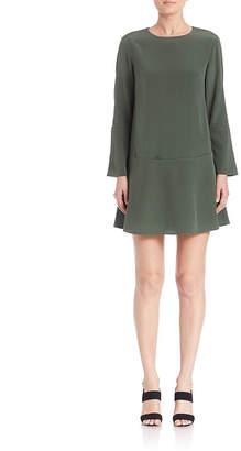 Tibi Silk Drop-Waist Dress