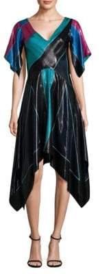 Diane von Furstenberg Flutter Sleeve Fit-&-Flare Dress