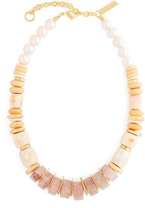 Lizzie Fortunato Pink Sands beaded necklace