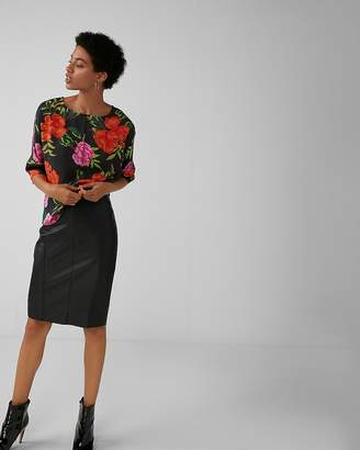 Express Floral Silky Cocoon Blouse