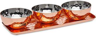 Godinger Copper Condiment Bowl Set