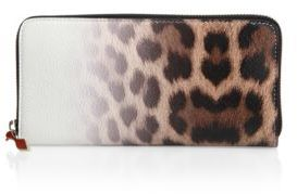 Christian Louboutin  Christian Louboutin Panettone Degrade Leopard-Print Leather Wallet