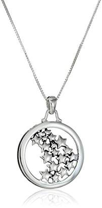 "Your Own Sterling Silver""Live Life Follow Star"" Multiple Star Pendant Necklace"