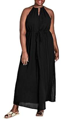 City Chic Plus Sleeveless Drawstring Maxi Dress