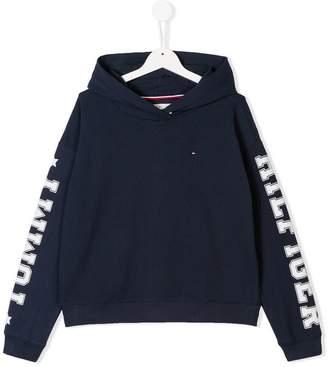Tommy Hilfiger Junior TEEN logo print hoodie