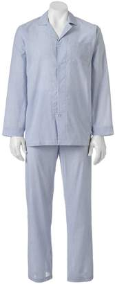 Chaps Men's Patterned Broadcloth Pajama Set