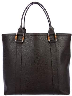 Gucci Bamboo Leather Zip Tote