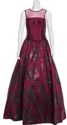 Aidan Mattox Sleeveless Floral Gown w/ Tags