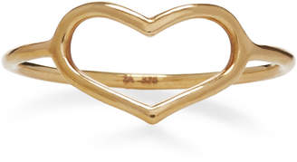 Jordan Askill Yellow Gold Delicate Heart Ring