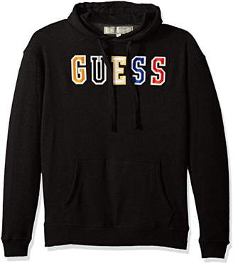 GUESS Men's Long Sleeve Authentic Logo Hoodie