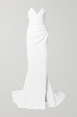 5f2c259cd294cb Cushnie et Ochs Strapless Ruched Crepe Gown - White