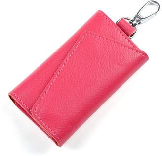 Aladin Leather Pocket Key Organizer Case with 6 Hooks & 1 Car Key Fob Holder