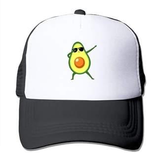 fcb9198c5c368b NM4554 Adjustable Trucker Hat Dabbing Avocado Unisex Outdoor Mesh Snapback  Hat