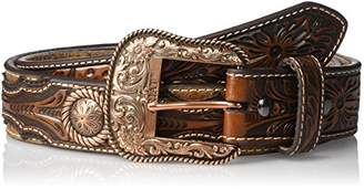 Ariat Men's Copper Concho Ostrich Western Belt