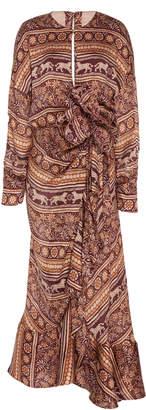 Johanna Ortiz Exclusive Arts Of Arts Sake Flower Midi Dress