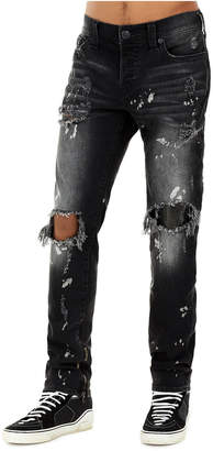 True Religion MENS BLEACH SPLATTER DESTROYED ROCCO SKINNY JEAN
