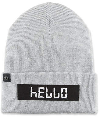 "Rag & Bone Addison ""Hello"" Digital Wool Beanie Hat"