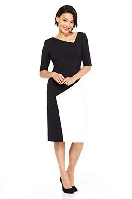 Maggy London Women's Mystic Stretch Crepe Color Block Sheath