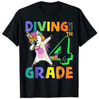 Team 4th Grade Unicorn Dabbing Back To School Shirt For Kid