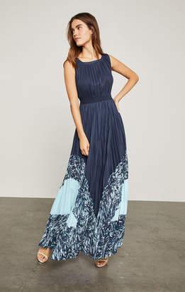 BCBGMAXAZRIA Charlotte Print-Blocked Gown